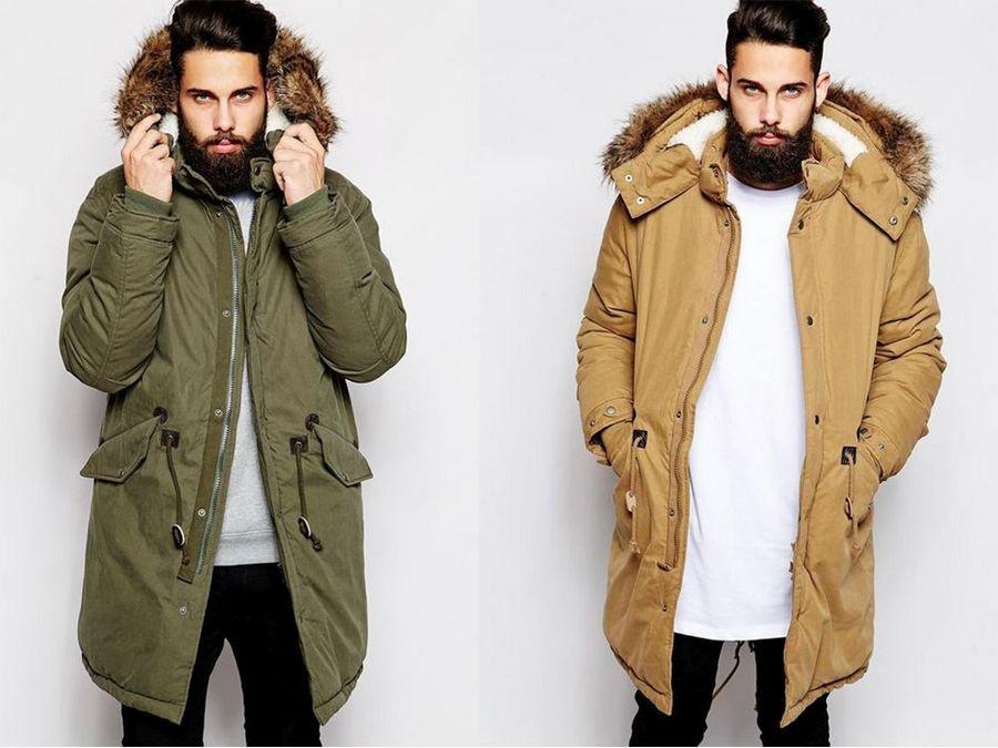 мужчина в зимней куртке