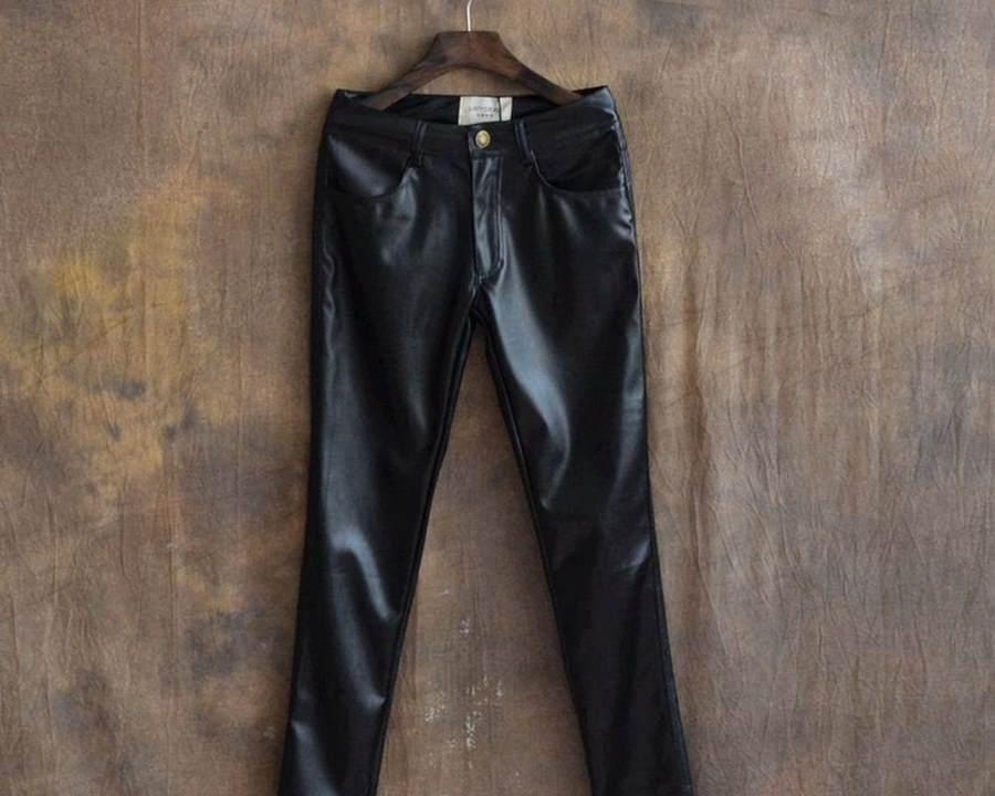 Кожаные брюки на сушке