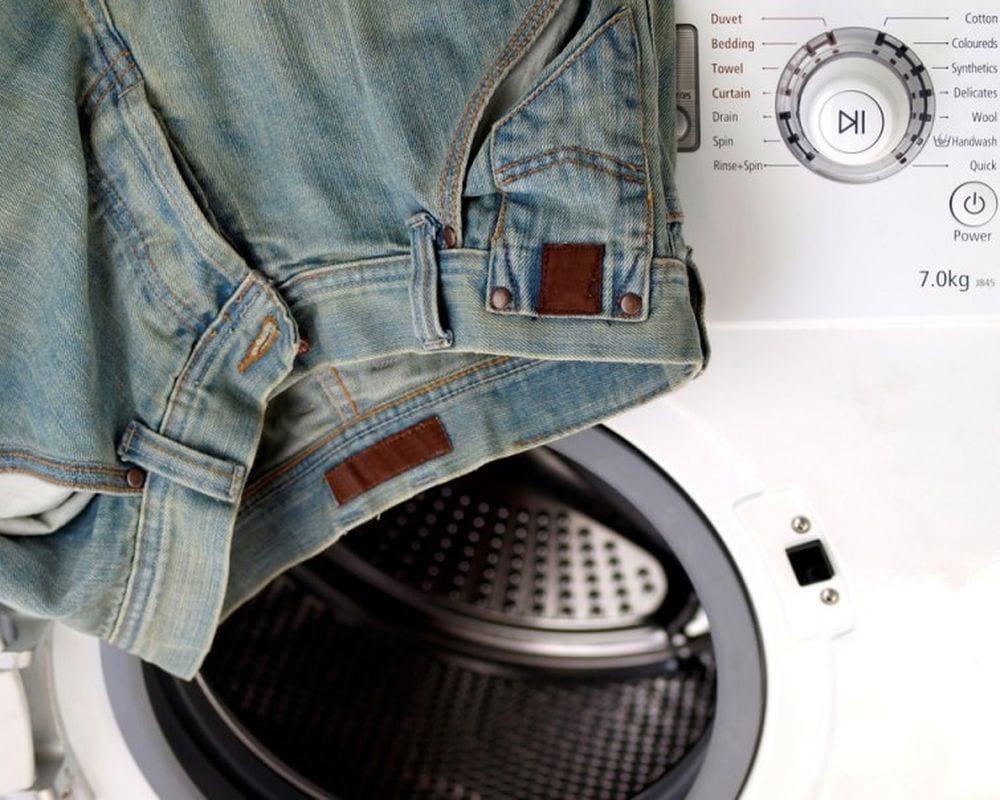 Джинсы на стиральной машинке