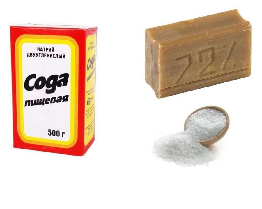 Мыло сода и соль