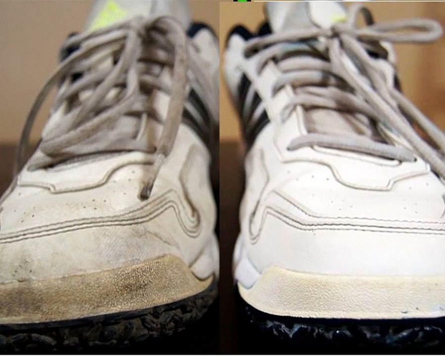 Кроссовки до и после чистки
