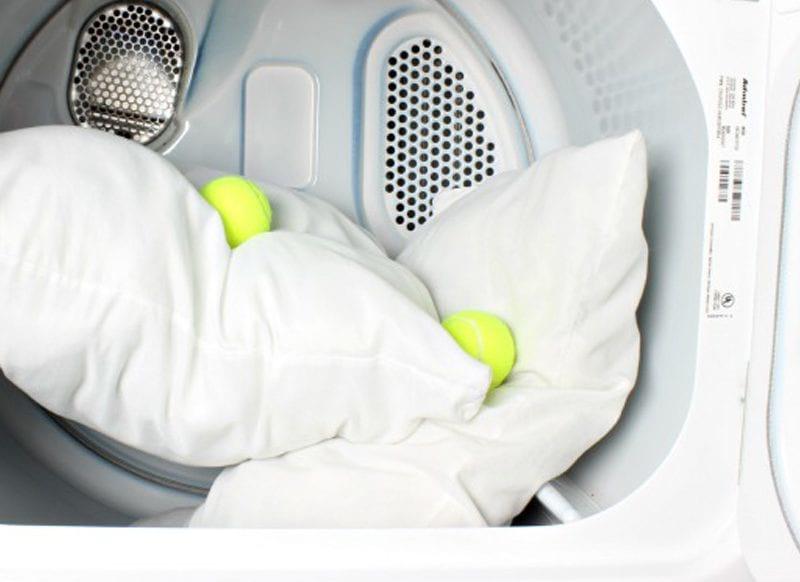 подушки в стиральной машине