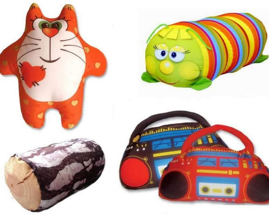 Подушки с формами животных