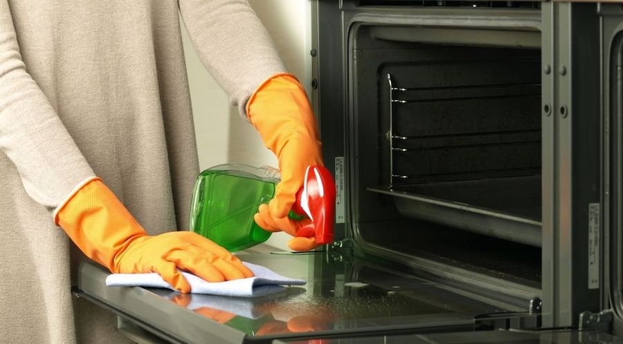 Очищение плиты