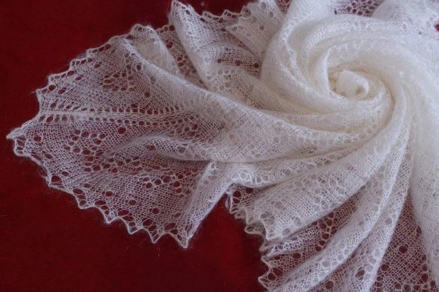 платок из пуха