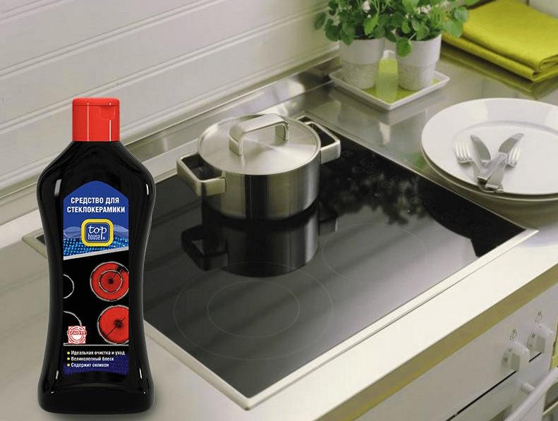 Бытовая химия для чистки плиты