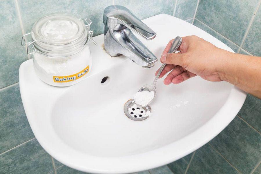чистка раковины содой