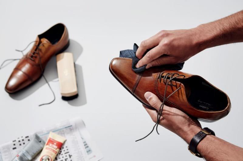 как почистить кожаную обувь