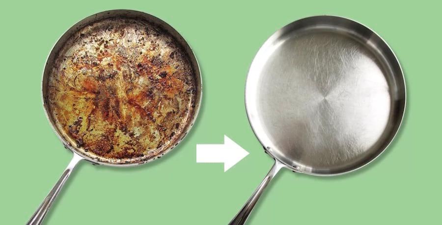 Что делать если пригорает сковорода
